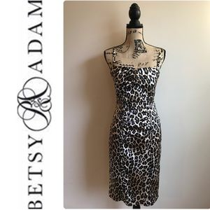 Betsy & Adam Animal Print Dress